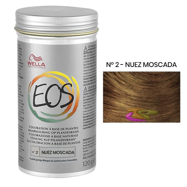 wella pflanzliche coloration eos modeton n ii muskatnuss 120 g - Coloration Eos
